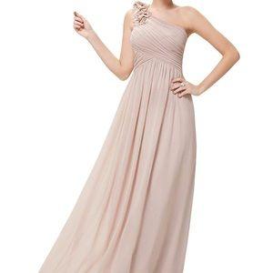 Ever pretty beige floor length dress